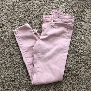 🌸CLEAR OUT⛱pink crop jeans